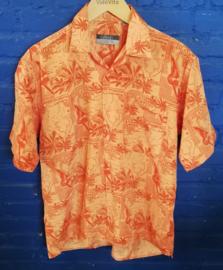 "Hawaii Shirt orange ""Island hopping"" Size: M"