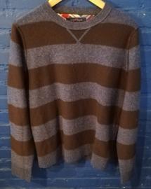 Woolen pullover blue/brown. Size: M Tommy Hilfiger