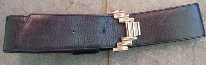 Belt with silver colour clasp