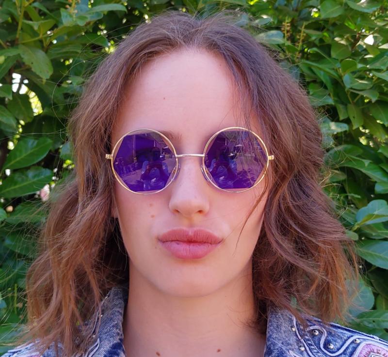 "Sunglasses ""edges""  blue/gold"