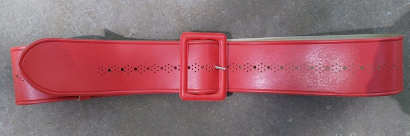 Red belt vintage plastic