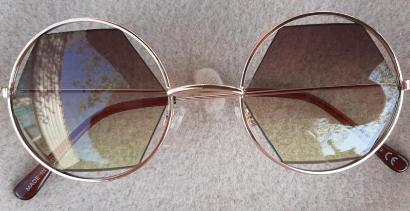 "Sunglasses ""edges"" Green/gold"