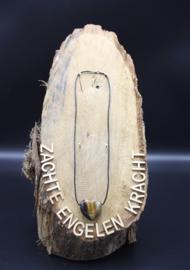 Doorboorde edelstenen hanger hart Valkenoog 3 cm