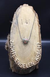 Doorboorde edelstenen hanger hart Unakiet 3 cm
