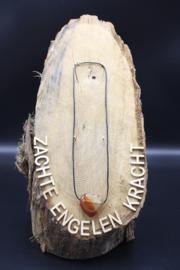 Doorboorde edelstenen hanger hart Carneool 3 cm