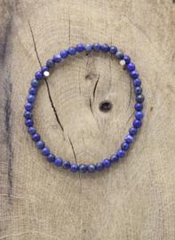 Armband Lapis Lazuli elastisch 4 mm