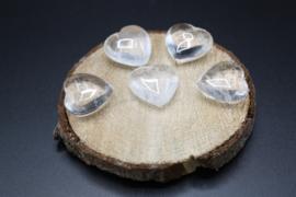 Hart van Bergkristal 3 cm