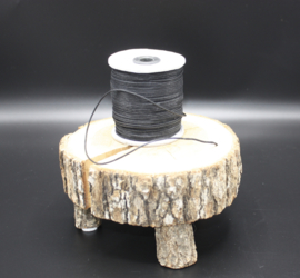 Wax koord zwart 1,5 mm