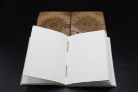 Notitieboek Mandala met leren kaft