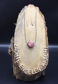 Doorboorde edelstenen hanger Mookaiet Jaspis 3 cm