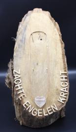Doorboorde edelstenen hanger hart Rookkwarts 3 cm