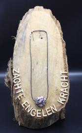 Doorboorde edelstenen hanger hart Rhodoniet 3 cm