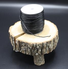 Rundleer koord zwart 1,5 mm