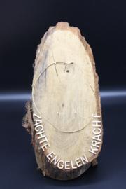 Lederen halsketting met karabijnslotje licht bruin 45 cm