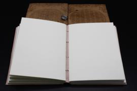 Notitieboek Bloem des Levens met leren kaft