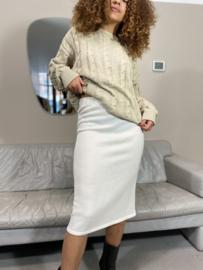 Beige vintage knit