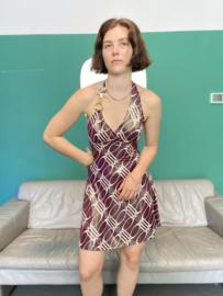 Glossy mini dress