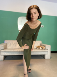Moss green dress