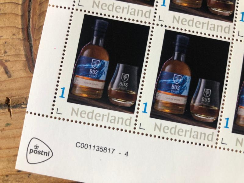 Bus Whisky postzegelvel   Collection Edition Bourbon aged   10 stuks
