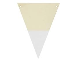 houten vlag wit met letter