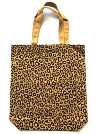 Katoenen luipaard tas oker geel of forest green