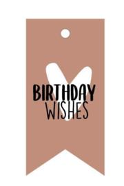 Cadeaukaartje Birthday wishes