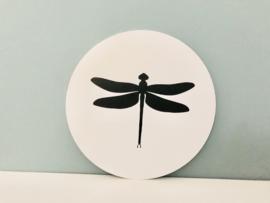 muurcirkel wit libelle