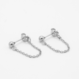 Chain studs Large | zilver