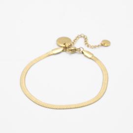 Snake chain bracelet 3 mm   goud