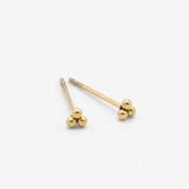 Triple dot studs 3 mm | goud