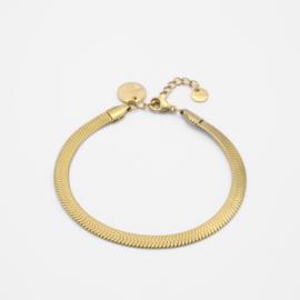 Snake chain bracelet 5 mm | goud