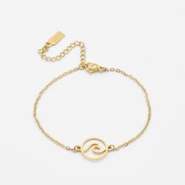 Wave bracelet | Goud