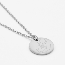 Mother & child necklace   Zilver