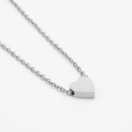 Heart necklace | zilver