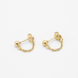 Chain studs small | goud