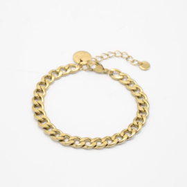 Curbed armband 6 mm | goud