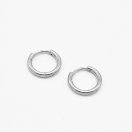 Basic hoops 10 mm - 2 mm thick | zilver