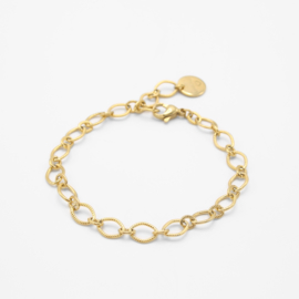 Mixed chain bracelet | Goud