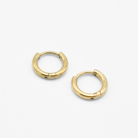 Basic hoops 8 mm - 2 mm thick | goud