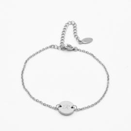 Single disc bracelet | basic chain | Zilver
