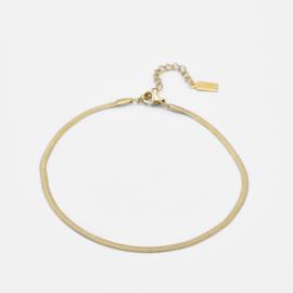 Snake chain anklet   Goud