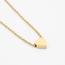 Heart necklace | Goud