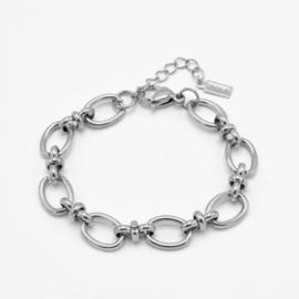 Mixed link chain bracelet | Zilver