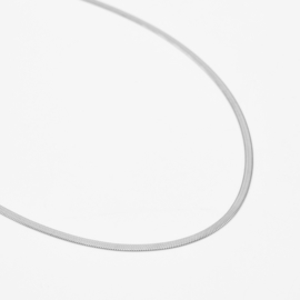 Snake chain necklace 2 mm | Zilver