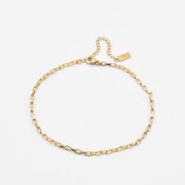 Box chain ankle bracelet   Goud