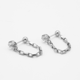 Chunky chain studs | Zilver