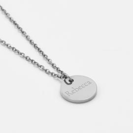 Name coin necklace | 1 coin | Zilver