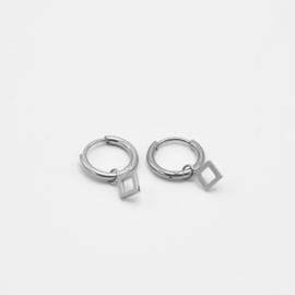 Rhombus hoops | Zilver