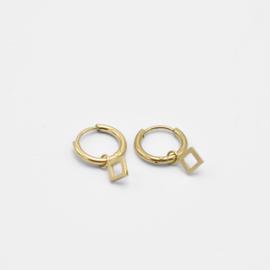 Rhombus hoops | goud