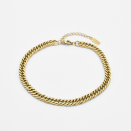 Chunky chain anklet   goud